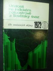 náhled knihy - Události na Indickém poloostrově a Sovětský svaz (ze současných dějin)