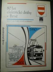 náhled knihy - 80 let elektrické dráhy v Brně/50 let autobusové dopravy v Brně