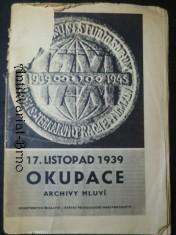 náhled knihy - 17. listopad 1939 Okupace, archivy mluví