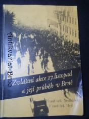 náhled knihy - Zvláštní akce 17. listopad a její průběh v Brně
