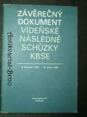 náhled knihy - Závěrečný dokument - Víděňské následky schůze KBSE (4. 11. 1986-19. 1. 1989)
