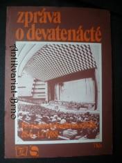 náhled knihy - Zpráva o devatenácté (19. Všesvazové konference KSSS 28.6.-1.7.1988)