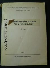 náhled knihy - Studijní materiály/Sborník dokumentů k dějinám ČSR a KSČ (1945-1948) III. část
