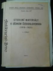náhled knihy - Studijní materiály k dějinám Československa (1918-1921) I. část