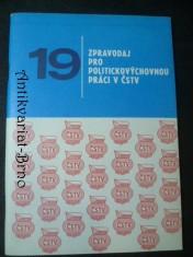 náhled knihy - 19. zpravodaj pro politickovýchovnou práci v ČSTV