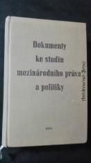 náhled knihy - Dokumenty ke studiu mezinárodního práva a politiky