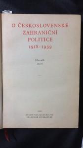 náhled knihy - O Československé zahraniční politice