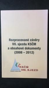 náhled knihy - Rozpracované závěry VII, sjezdu KSČM