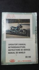 náhled knihy - JAWA 350/ 640: Operator's manual/ Betriebsanleitung/ Instuctions de service/ Manual de manejo