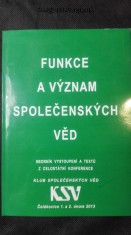 náhled knihy - Funkce a význam společenských věd