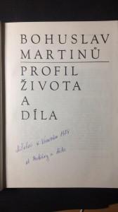 náhled knihy - Bohuslav Martinů, profil života a díla