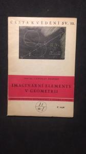 náhled knihy - Cesta k vědění imaginární elementy v geometrii