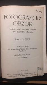 náhled knihy - Fotografický obzor ročník XXX.