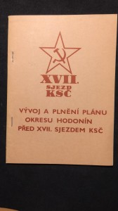 náhled knihy - Vývoj a plnění plánu okresu Hodonín před XVII. sjezdem KSČ