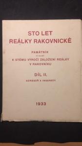 náhled knihy - Sto let reálky rakovnické díl 2.