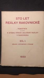 náhled knihy - Sto let reálky rakovnické díl 1.