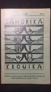 náhled knihy - Záhorská kronika ročník XIX. číslo 1.