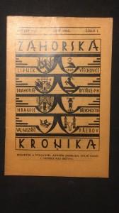 náhled knihy - Záhorská kronika ročník XVI. číslo 1.