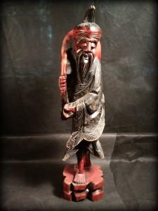 náhled knihy - Dřevěná socha orient Čína ?