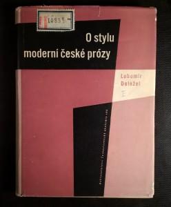 náhled knihy - O stylu moderní české prózy