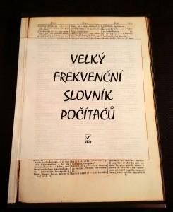 náhled knihy - Velký frekvenční slovník počítačů