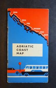 náhled knihy - Adriatic coast map