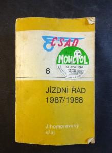náhled knihy - ČSAD: Jízdní řád 1987-1988 Jihomoravský kraj