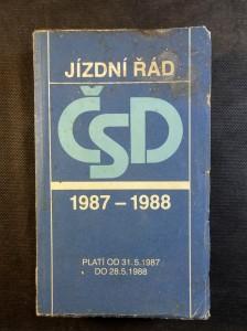 náhled knihy - Jízdní řád ČSD 1987 - 1988