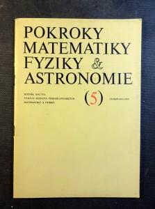 náhled knihy - Pokroky matematiky fyziky a astronomie 5 (ročník XIX/1974)