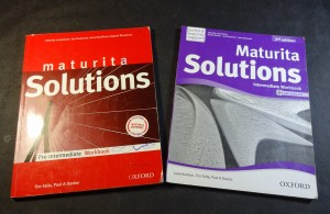 náhled knihy - Maturita Solutions Pre-Intermediate Workbook + Solutions Intermediate Workbook