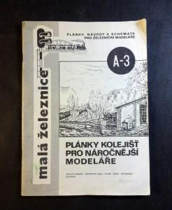 náhled knihy - malá železnice - plány kolejišť pro náročnější modeláře (A-3)
