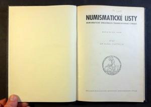 náhled knihy - Numismatické listy (kompletní XIV. ročník, r. 1959, 6. čísel)
