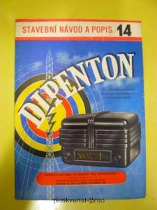 náhled knihy - Dipenton 2+1 elektronkový přijímač se síťovým transformátorem a 3 vlnovými rozsahy : Stavební návod a popis