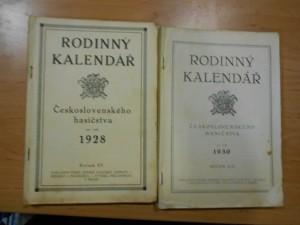 náhled knihy - Rodinný kalendář Československého hasičstva na rok 1928, ročník XV., a na rok 1930, ročník XVII.