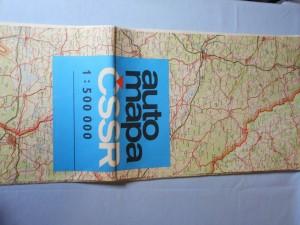náhled knihy - Automapa ČSR : Meřítko 1 : 500 000, nástěnná, 1. vydání