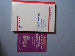 náhled knihy - Římské právo, Latinsko-český slovníček Římského práva (Vybrané pojmy a termíny)