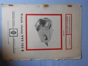 náhled knihy - Technické podmínky normativ náhr. dílů : Vrták vlečný VVS 103 B