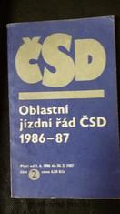 náhled knihy - Oblastní jízdní řád ČSD 1986-87. Část 2.