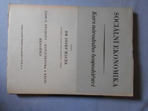 náhled knihy - Sociální ekonomika : kurs národního hospodářství. Část V, Důchody, konjunktura a krise, rejstříky