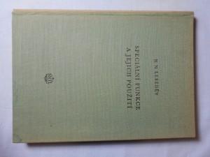 náhled knihy - Speciální funkce a jejich použití : Určeno inženýrům ve výzkumu a posluchačům vysokých škol technických