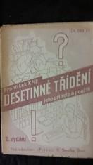 náhled knihy - Desetinné třídění: jeho princip a použití