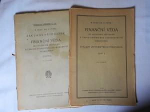 náhled knihy - Finanční věda, se zvláštním zřetelem k československému zákonodárství finančnímu : základy universitních přednášek, část 1., 2.