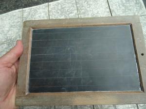 náhled knihy - školní pomůcka  - břidlicová tabulka na psaní - puncováno