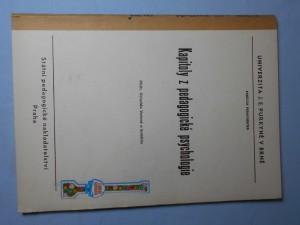 náhled knihy - Kapitoly z pedagogické psychoplogie