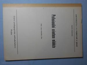 náhled knihy - Profesionální orientace mládeže
