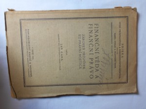 náhled knihy - Finanční věda a právo finanční právo