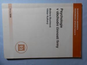 náhled knihy - Psychologie v obchodní činnosti firmy