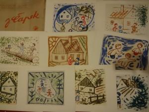 náhled knihy - Veselý rok - Barevné kresby 9 volných kartonů
