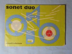 náhled knihy - Sonet duo magnetofon : Návod k obsluze