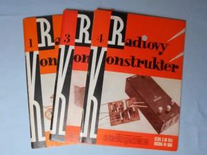 náhled knihy - Radiový Konstruktér ročník 1, č. 1, ročník 2. č. 3., ročník 4. č. 4.